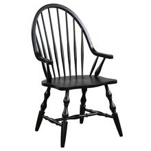 Product Image - Windsor Dining Chair with Arms - Antique Black