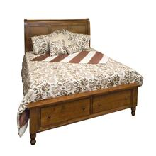 Wrightsville Queen Bed with Footboard Drawer Unit