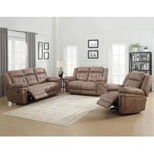 Anastasia Cocoa 3 Piece Motion Set(Sofa, Loveseat & Chair)