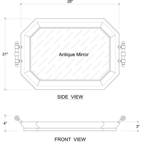 Gallery - Victorian Octagonal Tray w/ Mirror
