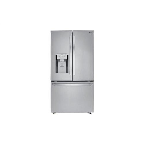 LG - 24 cu. ft. Smart wi-fi Enabled French Door Counter-Depth Refrigerator