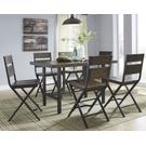 Counter Height Dining Table and 6 Barstools Product Image