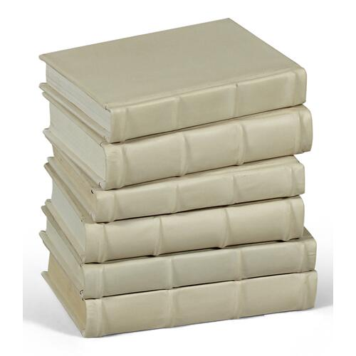 Books, Set Of 6, Antique White