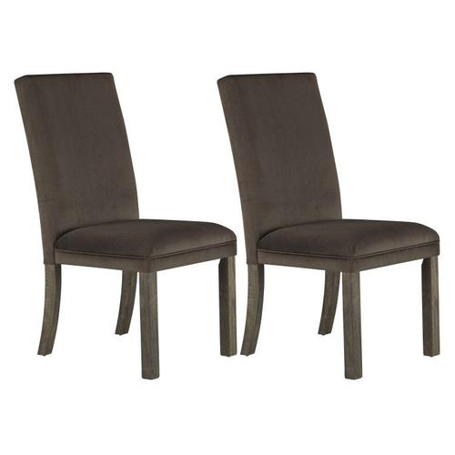 Gallery - Trenton 2-Pack Upholstered Side Chairs, Brown