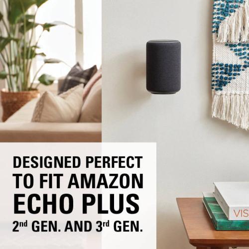 Black Amazon Echo Plus (2nd Gen) and Amazon Echo (3rd Gen) Wall Mount