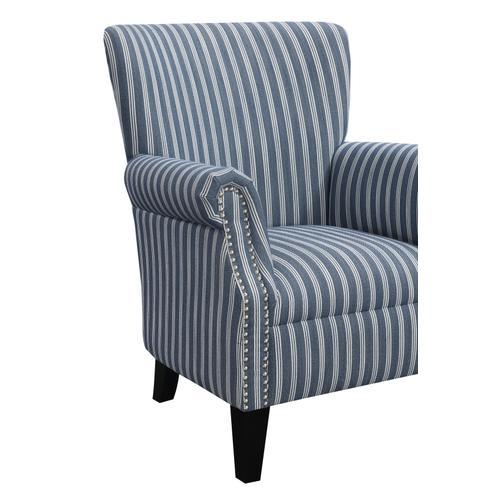Oscar Accent Chair Blue Stripe