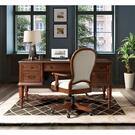 Clinton Hill - Round Back Uph Desk Chair - Classic Cherry Finish Product Image