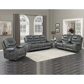 Park Avenue Grey 3 Piece Triple Power Motion Set(Sofa, Loveseat & Chair)