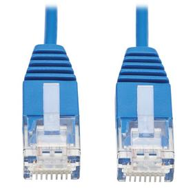 Cat6a 10G Certified Molded Ultra-Slim UTP Ethernet Cable (RJ45 M/M), Blue, 10 ft. (3.05 m)