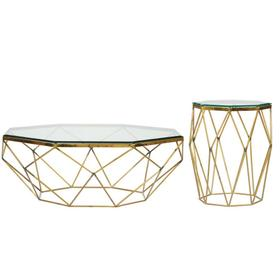 Octagon Coffee Table Base - Polished Brass Finish