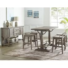 Ryan 5 Piece Counter Set(Counter Table & 4 Counter Stools)