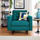 Empress Upholstered Fabric Armchair in Teal Product Image