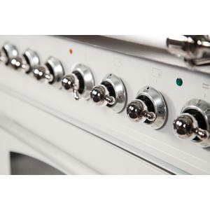 30 Inch Antique White Dual Fuel Liquid Propane Freestanding Range