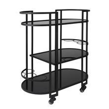 "See Details - Metal 3 Tier 32"" Bar Cart, Black"