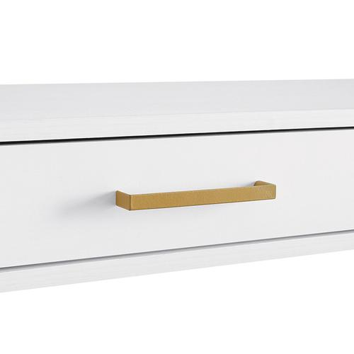 Modern Life White Desk With Charger Drawer