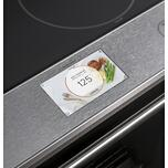 """Cafe Appliances Caf(eback) 30"""" Smart Slide-In, Front-Control, Induction And Convection Range With In-Oven Camera In Platinum Glass"""