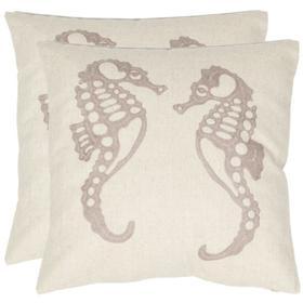 Dahli Seahorse Pillow - Ivory