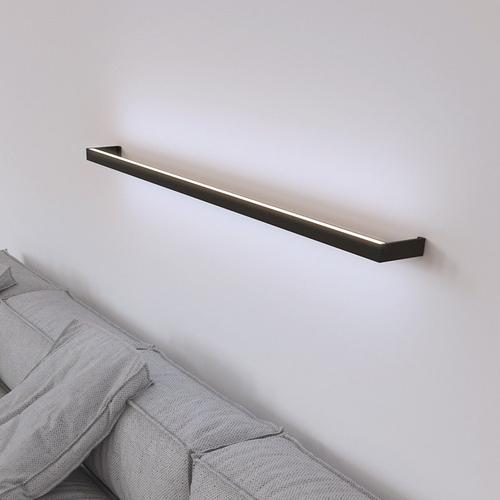 Sonneman - A Way of Light - Thin-Line Indirect LED Wall Bar [Size=3', Color/Finish=Satin Black]