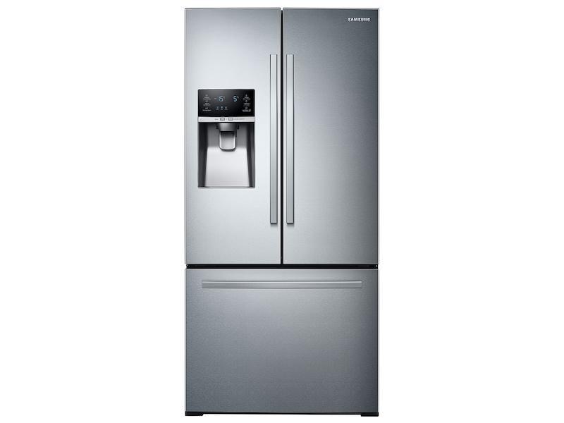 Samsung26 Cu. Ft. 3-Door French Door Refrigerator With External Water & Ice Dispenser In Stainless Steel