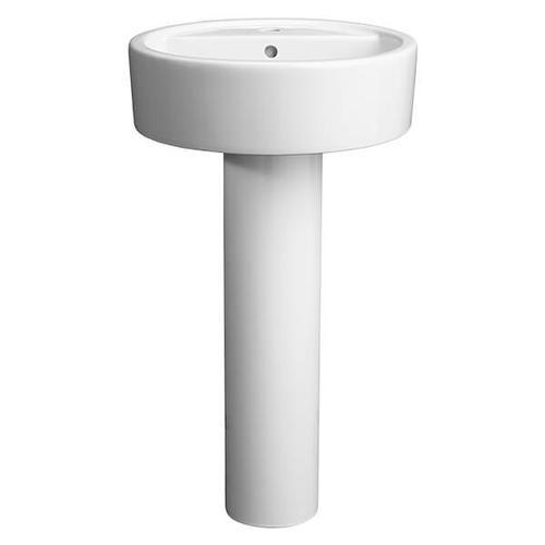 Cossu 20 Inch Round Pedestal Bathroom Sink - Canvas White