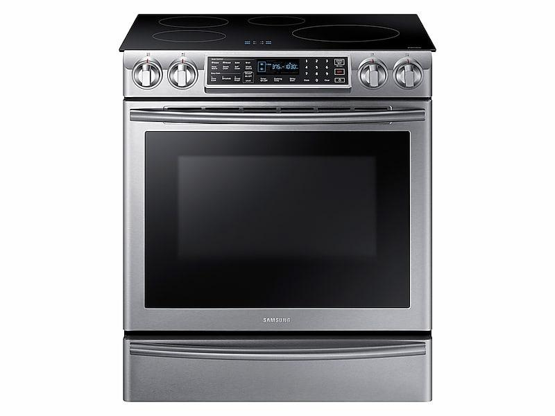 Samsung5.8 Cu Ft. Smart Slide-In Induction Range With Virtual Flame™ In Stainless Steel
