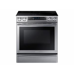 Samsung Appliances5.8 cu. ft. Slide-In Induction Range with Virtual Flame™ in Stainless Steel