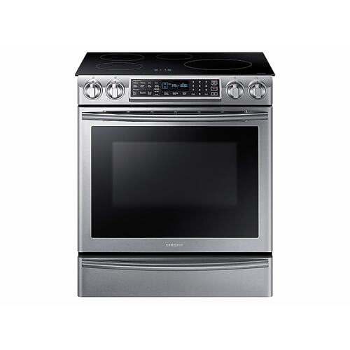 5.8 cu ft. Smart Slide-in Induction Range with Virtual Flame™ in Stainless Steel
