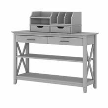 See Details - Console Table with Storage and Desktop Organizers, Cape Cod Gray