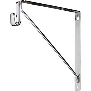 "Shelf & Rod Support Bracket. 1"" Wide Steel Design Supports up to 150 lb per Bracket. Designed for Use with Hardware Resources 15 mm x 30 mm Oval Closet Rods. Finish: Chrome Product Image"