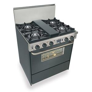 "30"" Dual Fuel, Convect, Self Clean, Open Burners, Black"