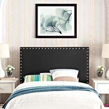 View Product - Phoebe Twin Upholstered Vinyl Headboard in Black