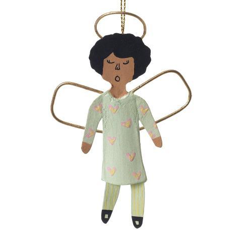 """4""""H Light-Green Little Angel Ornament (Girl Option)"""