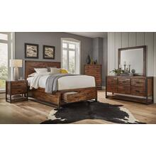 Loftworks King Footboard W/2 Storage Drawers