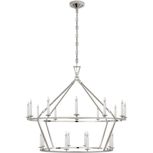 Visual Comfort CHC5179PN E. F. Chapman Darlana 20 Light 40 inch Polished Nickel Chandelier Ceiling Light