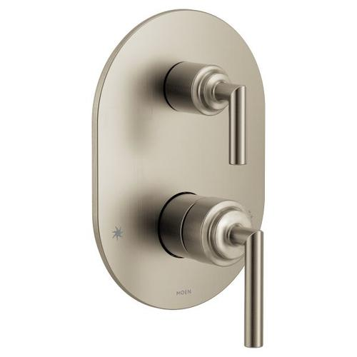 Arris brushed nickel m-core 3-series with integrated transfer valve trim