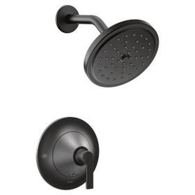 Doux matte black posi-temp® shower only