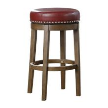 Round Swivel Pub Height Stool, Red