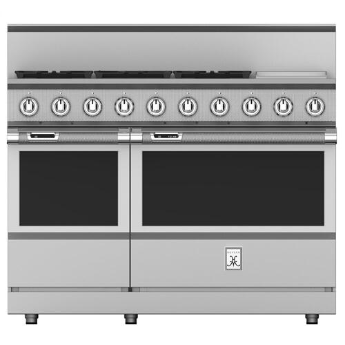 """48"""" 5-Burner Dual Fuel Range with 12"""" Griddle - KRD Series - Steeletto"""
