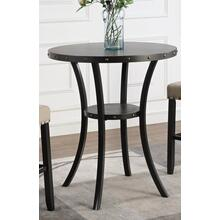 "Biony 36"" Round Espresso Finish Bar Table Nail Head Trim"