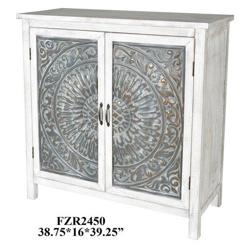"""Product Image - 39X16X39.25"""" WOOD/ METAL CABINET, 1PC PK, 21.08'"""
