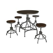 5 Piece Set (Adjustable Height Table and 4 Adjustable Height Stools)