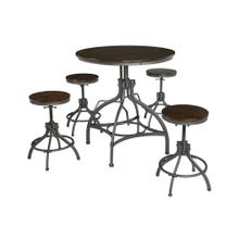 Odium Counter Height Dining Room Table and Bar Stools (set of 5)