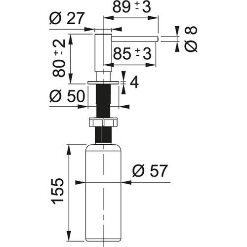 Franke - Soap dispenser Steel Black Stainless Steel