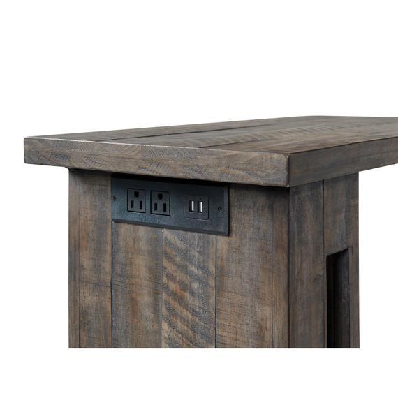 Riverside - Bradford - Laptop Side Table - Rustic Coffee Finish