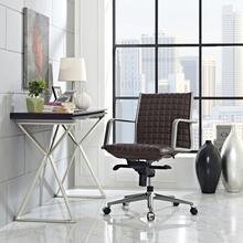 Pattern Office Chair in Brown
