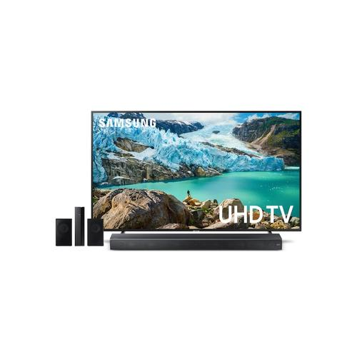 """Samsung - Home Entertainment Package with 75"""" RU7100 4K UHD Smart TV"""