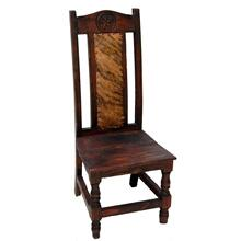 Dark Cowhide Chair