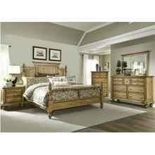 View Product - Queen Poster Bed, Dresser & Mirror, Chest, N/S
