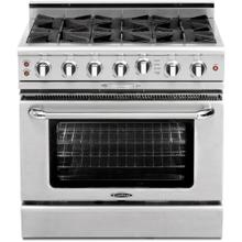 """Product Image - 36"""" Gas Self Clean Range w/ Rorisserie in Oven, 6 Burners"""