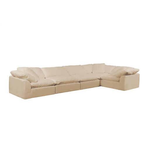 Cloud Puff Slipcovered Modular Sectional Sofa - 391084 (5 Piece)